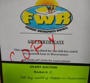 Silent Auction Fremont Water Sports